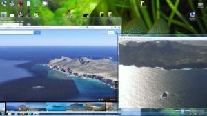 heenvlucht foto met google maps